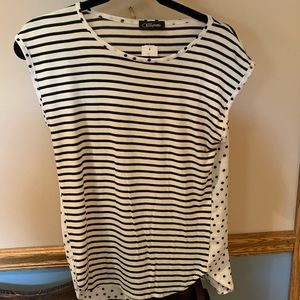 Black and white stripes and dots shirt never worn